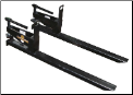 Land Pride Pallet Forks - 1,000 lb. Bucket Mounted
