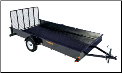 "Rainbow Solid Side 76""x12'  Express Utility Trailer"