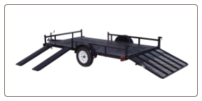 "Rainbow Ramp Side 82""x12' Express Utility Trailer"